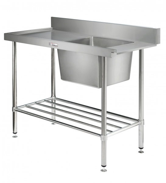 Simply Stainless Dishwash Table & Sink - SS081200L
